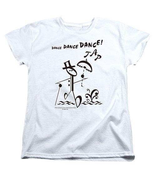 Tap Women's T-Shirt (Standard Cut) by Maria Watt