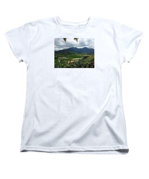 Women's T-Shirt (Standard Cut) featuring the photograph Taro Fields On Kauai by Brenda Pressnall