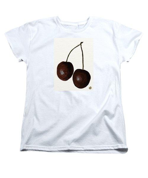 Tasty Red Cherries Women's T-Shirt (Standard Cut) by Zilpa Van der Gragt