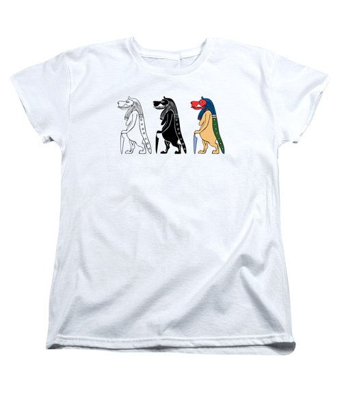 Women's T-Shirt (Standard Cut) featuring the digital art Taweret - Mythical Creature Of Ancient Egypt by Michal Boubin