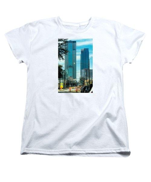 Women's T-Shirt (Standard Cut) featuring the photograph Tax Dollars At Work by Joan Bertucci