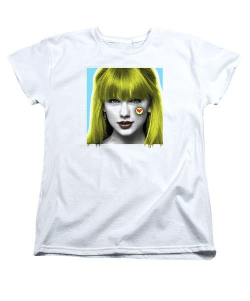Taylor Swift, Pop Art, Portrait, Contemporary Art On Canvas, Famous Celebrities Women's T-Shirt (Standard Cut) by Dr Eight Love