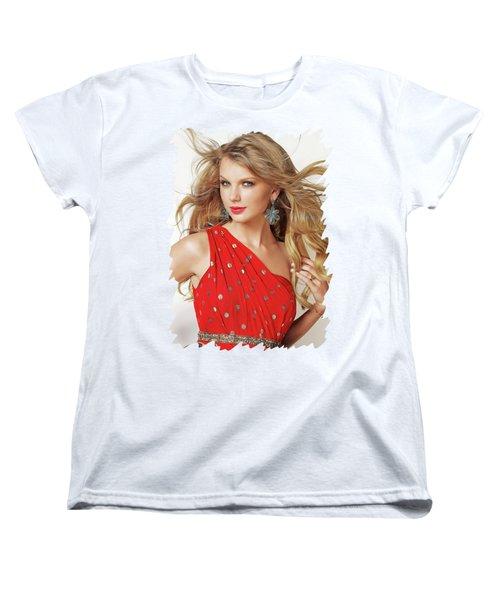 Taylor Swift Women's T-Shirt (Standard Cut) by Twinkle Mehta