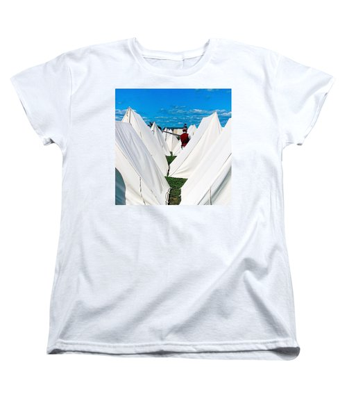 Field Of Tents Women's T-Shirt (Standard Cut) by Kate Arsenault
