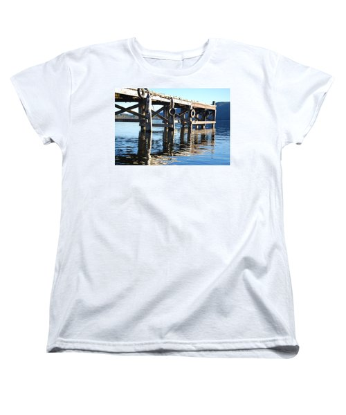 Te Anau Pier Women's T-Shirt (Standard Cut) by Jocelyn Friis