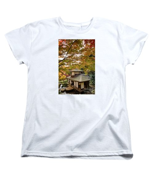 Women's T-Shirt (Standard Cut) featuring the photograph Tea Ceremony Room by Tad Kanazaki