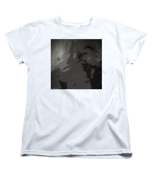 Women's T-Shirt (Standard Cut) featuring the digital art Tears In Koln When 2016 Came by Carolina Liechtenstein