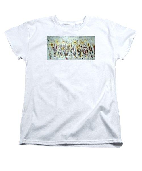 Women's T-Shirt (Standard Cut) featuring the painting Tending My Garden by J R Seymour