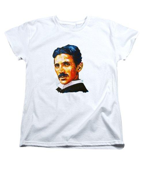 Tesla - Pure Genius Women's T-Shirt (Standard Cut)