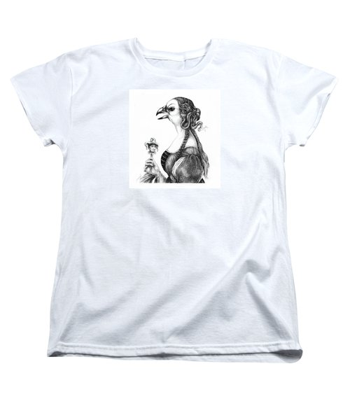 Tete-a-tete With Botticelli Women's T-Shirt (Standard Cut) by Yvonne Wright