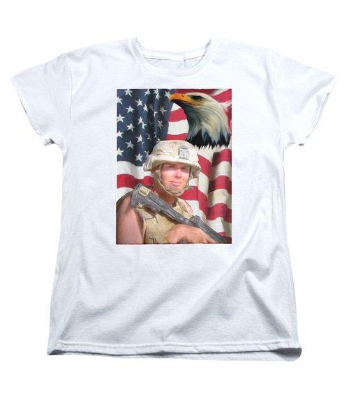 Texas Warrior Women's T-Shirt (Standard Cut) by Ken Pridgeon