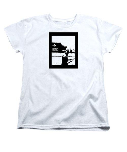 Text Women's T-Shirt (Standard Cut) by Steve Godleski