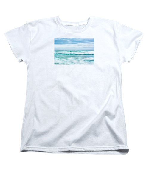 Textures In The Waves Women's T-Shirt (Standard Cut) by Shelby  Young