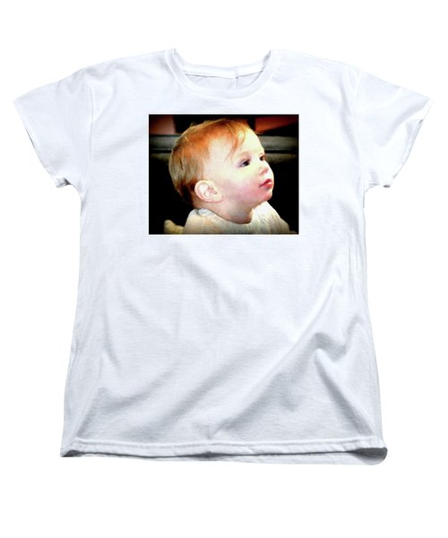 Women's T-Shirt (Standard Cut) featuring the photograph The Age Of Innocence by Barbara Dudley