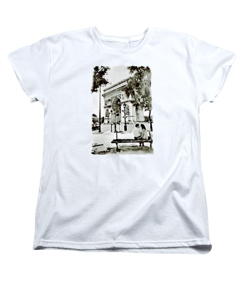The Arc De Triomphe Paris Black And White Women's T-Shirt (Standard Cut) by Marian Voicu