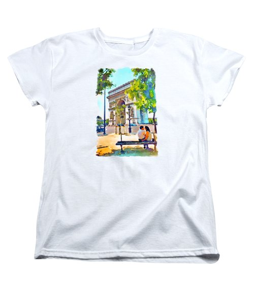 The Arc De Triomphe Paris Women's T-Shirt (Standard Cut) by Marian Voicu
