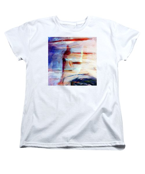 Women's T-Shirt (Standard Cut) featuring the painting The Auberge by Dominic Piperata