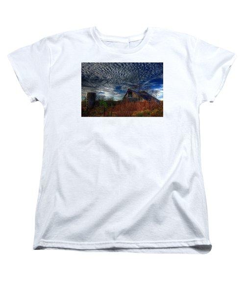 The Barn At Twilight Women's T-Shirt (Standard Cut) by Karen McKenzie McAdoo