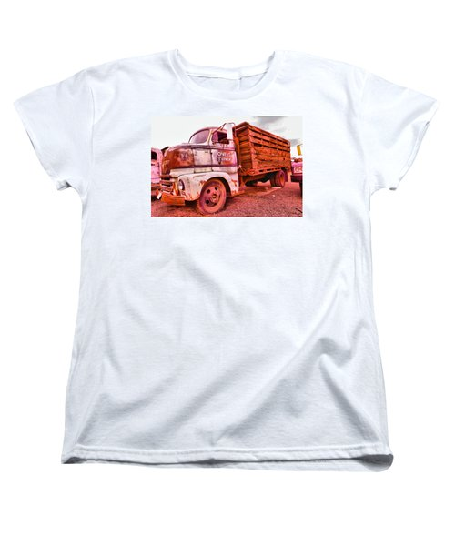 Women's T-Shirt (Standard Cut) featuring the photograph The Beauty Of An Old Truck by Jeff Swan