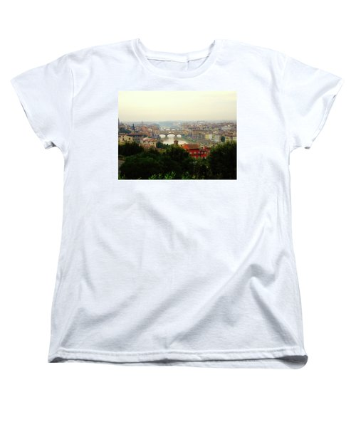 Women's T-Shirt (Standard Cut) featuring the photograph The Beauty Of Florence  by Alan Lakin