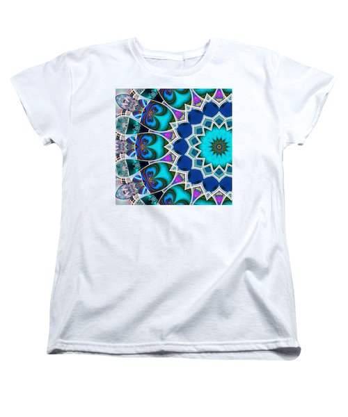 Women's T-Shirt (Standard Cut) featuring the digital art The Blue Collective 01b by Wendy J St Christopher