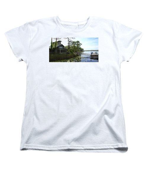 The Boathouse At Watercolor Women's T-Shirt (Standard Cut) by Megan Cohen