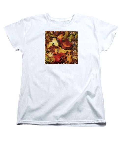 The Cat And The Acorn Women's T-Shirt (Standard Cut)