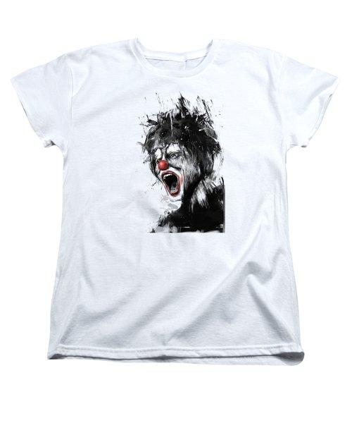 The Clown Women's T-Shirt (Standard Cut) by Balazs Solti