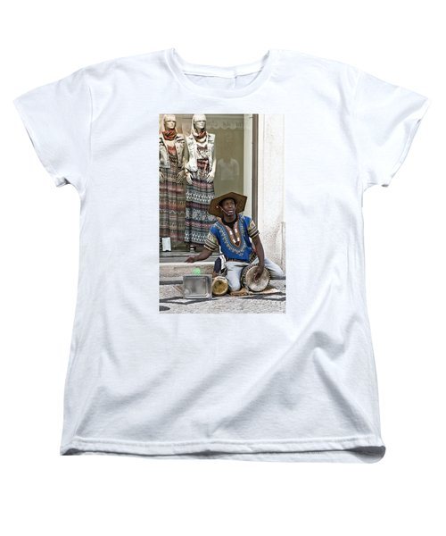 The Color Of Street Music Women's T-Shirt (Standard Cut) by Lorraine Devon Wilke