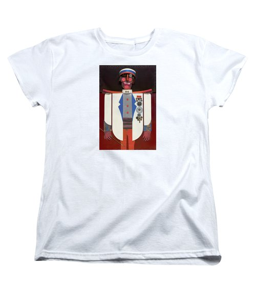 Women's T-Shirt (Standard Cut) featuring the painting The Commander by Bob Coonts