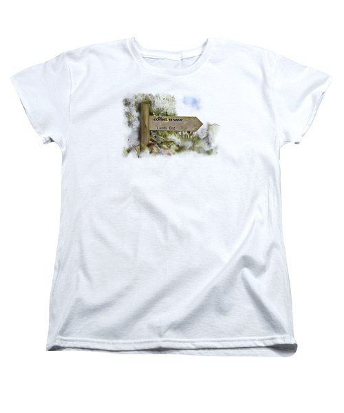 The Cornish Way On Transparent Background Women's T-Shirt (Standard Cut) by Terri Waters