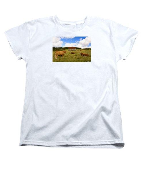 The Cows Of Mabou Women's T-Shirt (Standard Cut) by Ken Morris