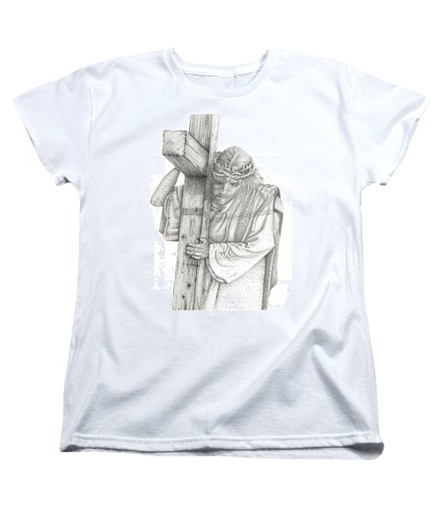 The Cross Women's T-Shirt (Standard Cut) by Mayhem Mediums