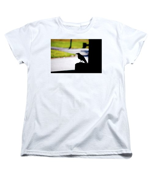 Women's T-Shirt (Standard Cut) featuring the photograph The Crow Awaits by Karol Livote