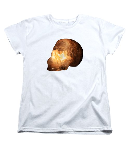 The Crystal Skull On Transparent Background Women's T-Shirt (Standard Cut) by Terri Waters