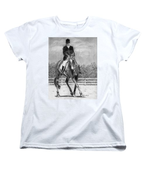 Women's T-Shirt (Standard Cut) featuring the drawing The Dance by Quwatha Valentine