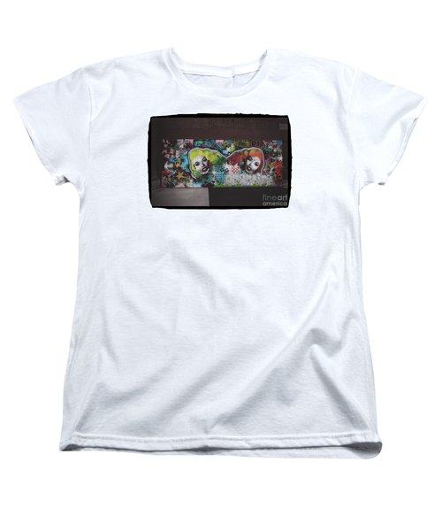 Women's T-Shirt (Standard Cut) featuring the photograph The Dark Side -  Graffiti by Colleen Kammerer