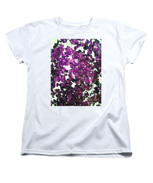 The Fall - Intense Fuchsia Women's T-Shirt (Standard Cut) by Rebecca Harman