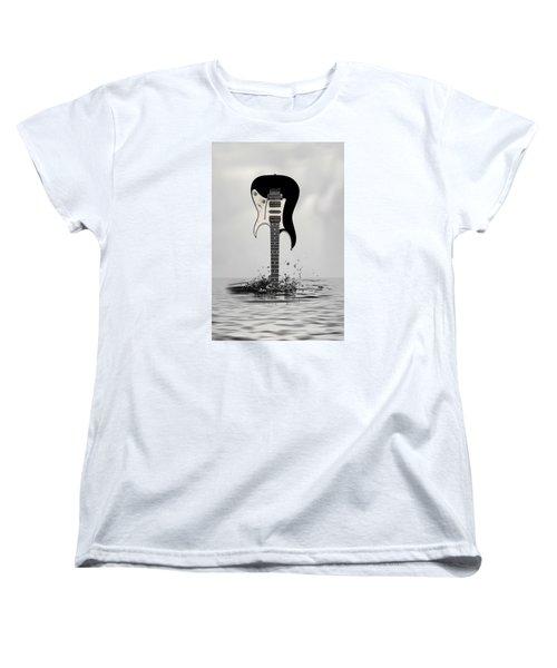 Women's T-Shirt (Standard Cut) featuring the digital art The Final Cut by Angel Jesus De la Fuente
