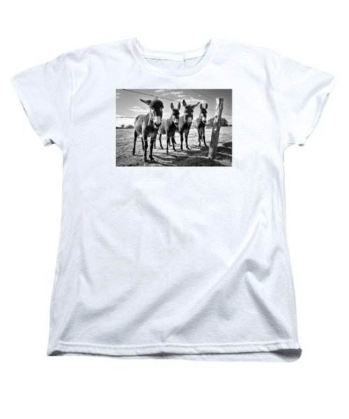 The Four Amigos Women's T-Shirt (Standard Cut) by Sharon Jones