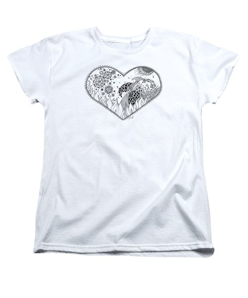 Women's T-Shirt (Standard Cut) featuring the drawing The Four Elements by Ana V Ramirez