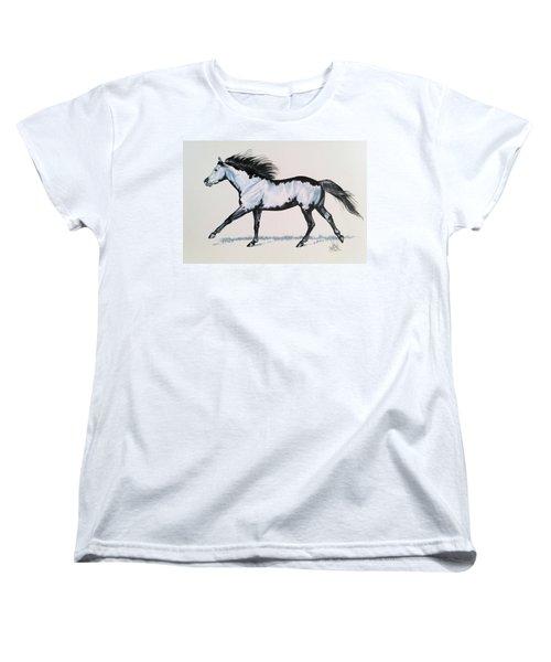The Framed American Paint Horse Women's T-Shirt (Standard Cut) by Cheryl Poland