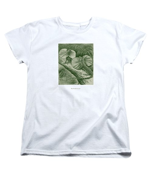 The Frilled Lizard Women's T-Shirt (Standard Cut) by David Davies