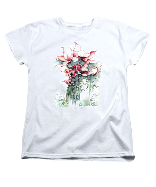 Women's T-Shirt (Standard Cut) featuring the painting The Gateway To Imagination by Anna Ewa Miarczynska