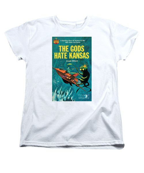 Women's T-Shirt (Standard Cut) featuring the painting The Gods Hate Kansas by Jack Thurston