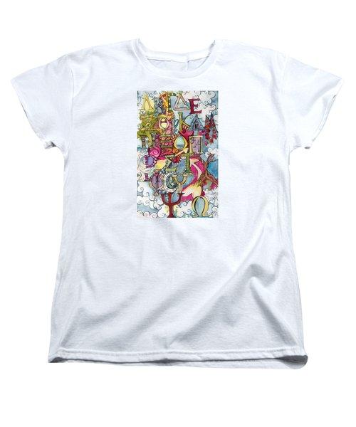 The Greek Alphabet Women's T-Shirt (Standard Cut) by Claudia Cole Meek