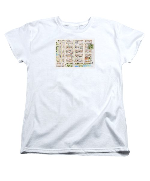 The Harlem Map Women's T-Shirt (Standard Cut) by AFineLyne