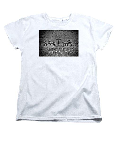 Women's T-Shirt (Standard Cut) featuring the photograph The Herd by Karen Lewis