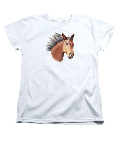 The Horse Women's T-Shirt (Standard Cut) by Mike Ivey