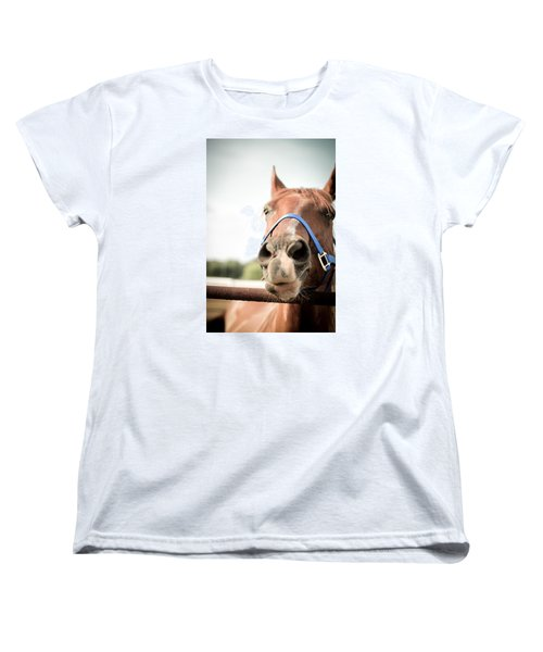Women's T-Shirt (Standard Cut) featuring the photograph The Horse's Mouth by Kelly Hazel